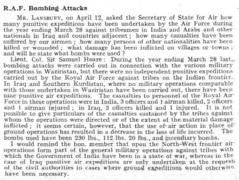 R.A.F. Bombing Attacks