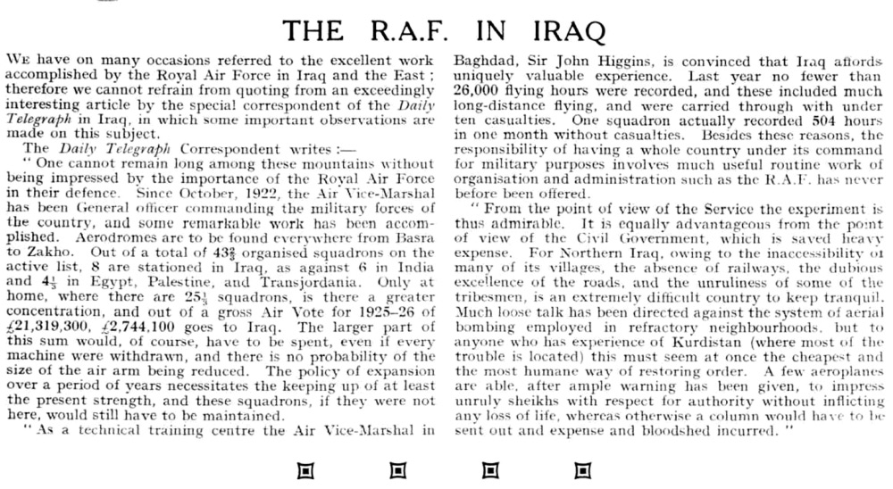 The R.A.F. in Iraq