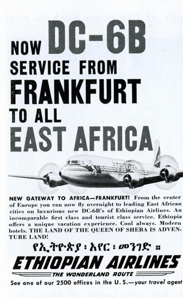 Nuevo servicio de Frankurft a África Oriental en DC-6B