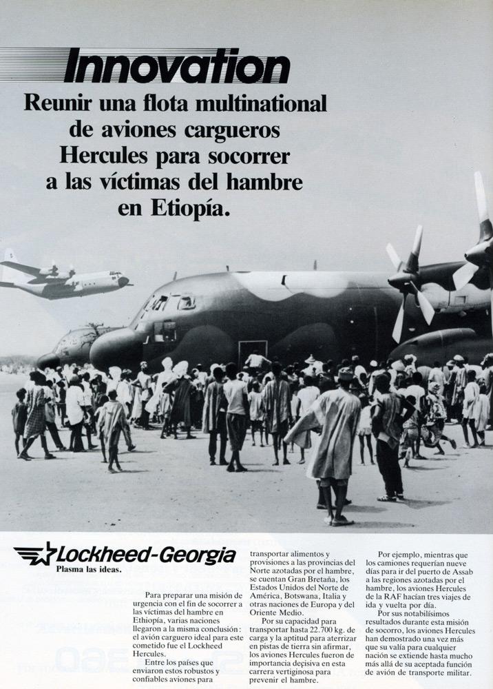 Aviones Hercules para socorrer a las víctimas del hambre en Etiopía