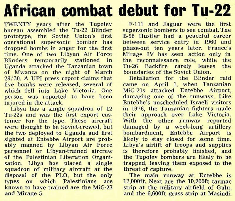 African Combat Debut for Tu-22