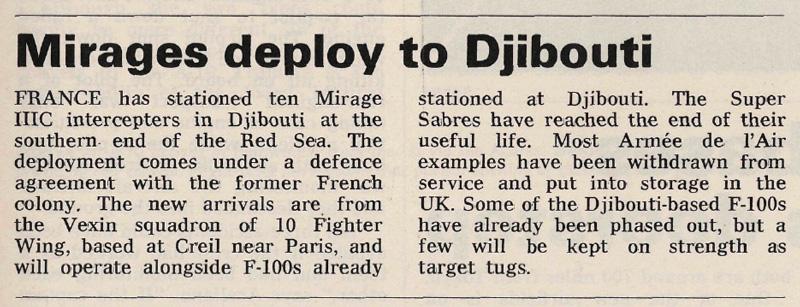 Mirages Deploy to Djibouti