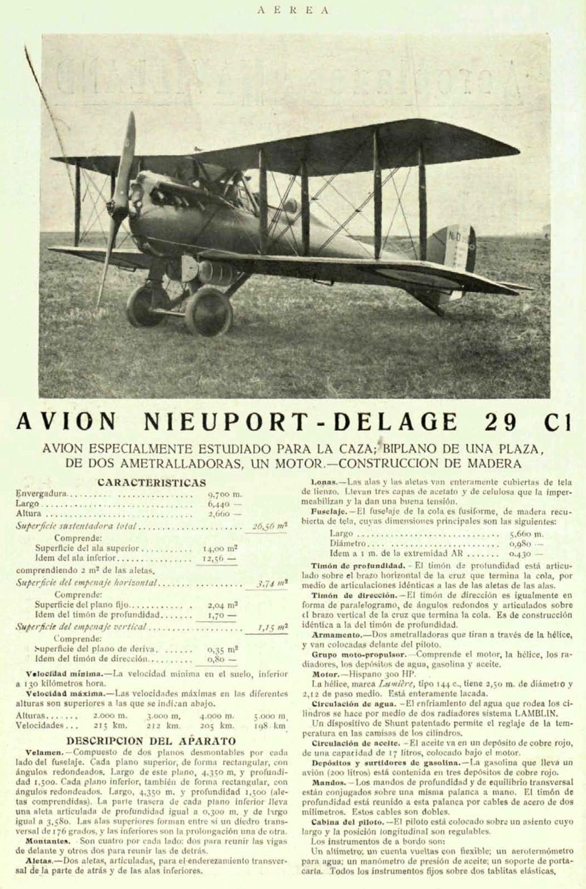 Avión Nieuport-Delage 29