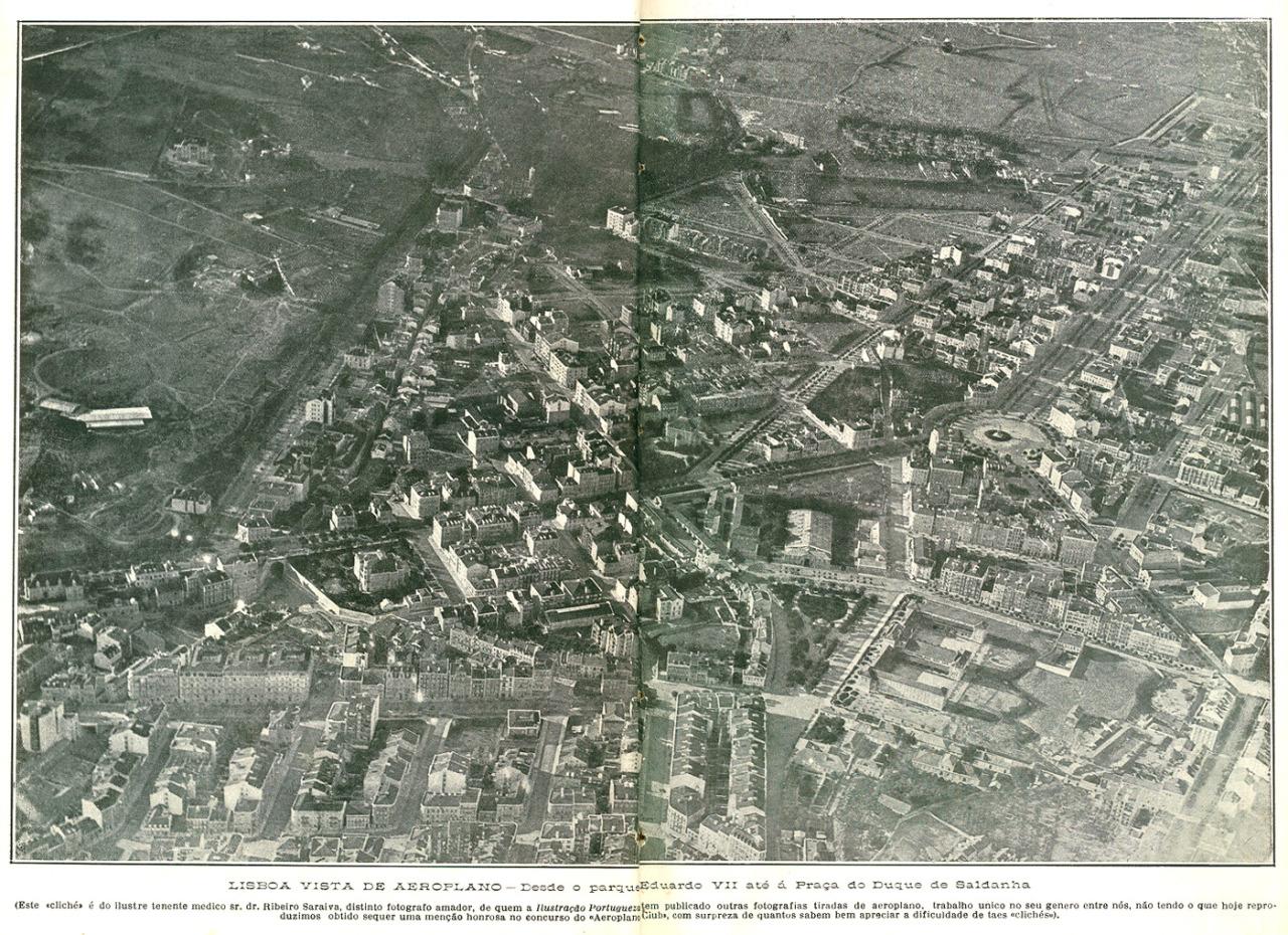 Lisboa vista de Aeroplano
