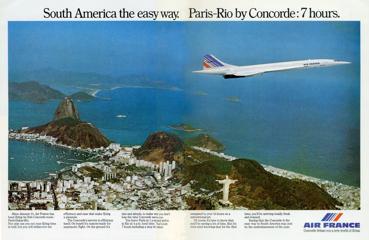 Un Concorde sobre Río de Janeiro