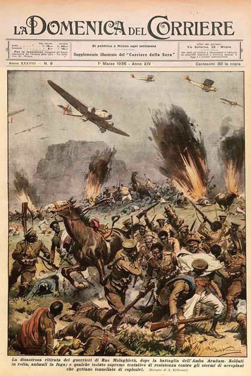 La desastrosa retirada de los guerreros del ras Mulugheta, después de la batalla del Amba Aradam.