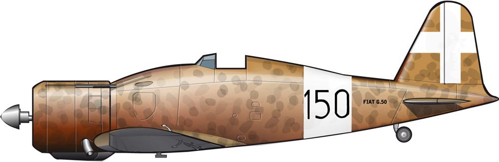 """El Fiat G.50 en la """"guerra del desierto"""""""