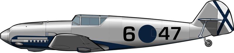 Me-109 de la aviación de los nacionales, primeros meses de 1939