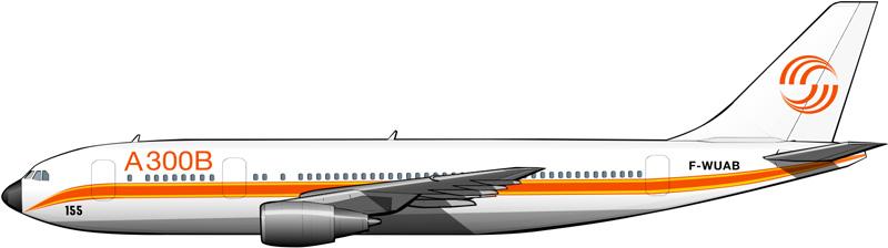 Prototipo del Airbus A300 en 1973.