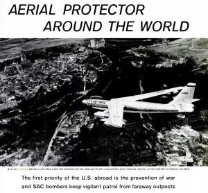 Un B-47 sobre Segovia