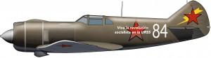 Lavochin La-5 (con letrero en español)