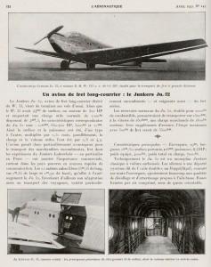 Un avion de fret long-courier: le Junkers Ju.52
