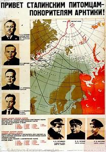 ¡Un saludo a los discípulos de Stalin, conquistadores del Artico!