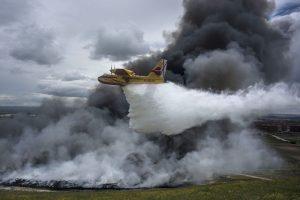 Avión bombero en  Seseña