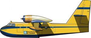Un avión bombero para Québec