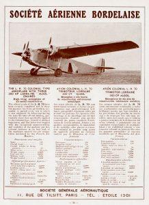 Avión colonial Bordelaise L.H. 70