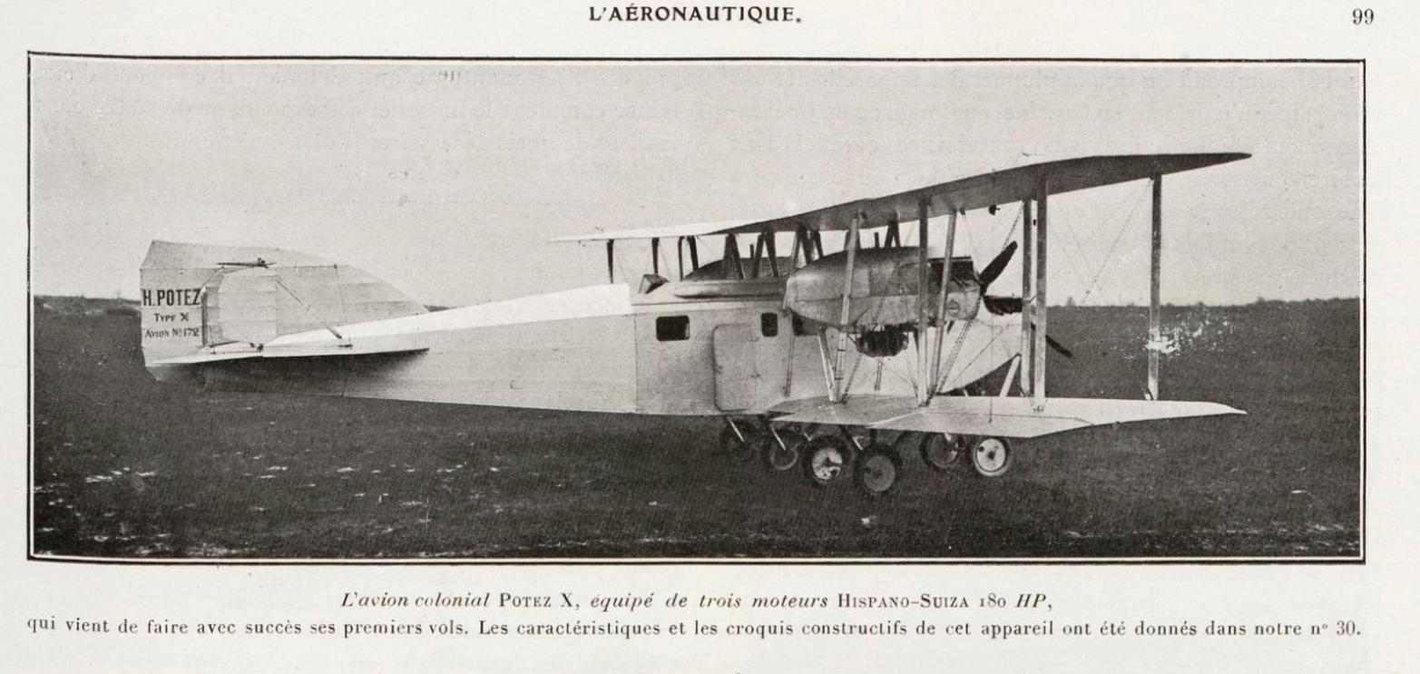 El avión colonial Potez X