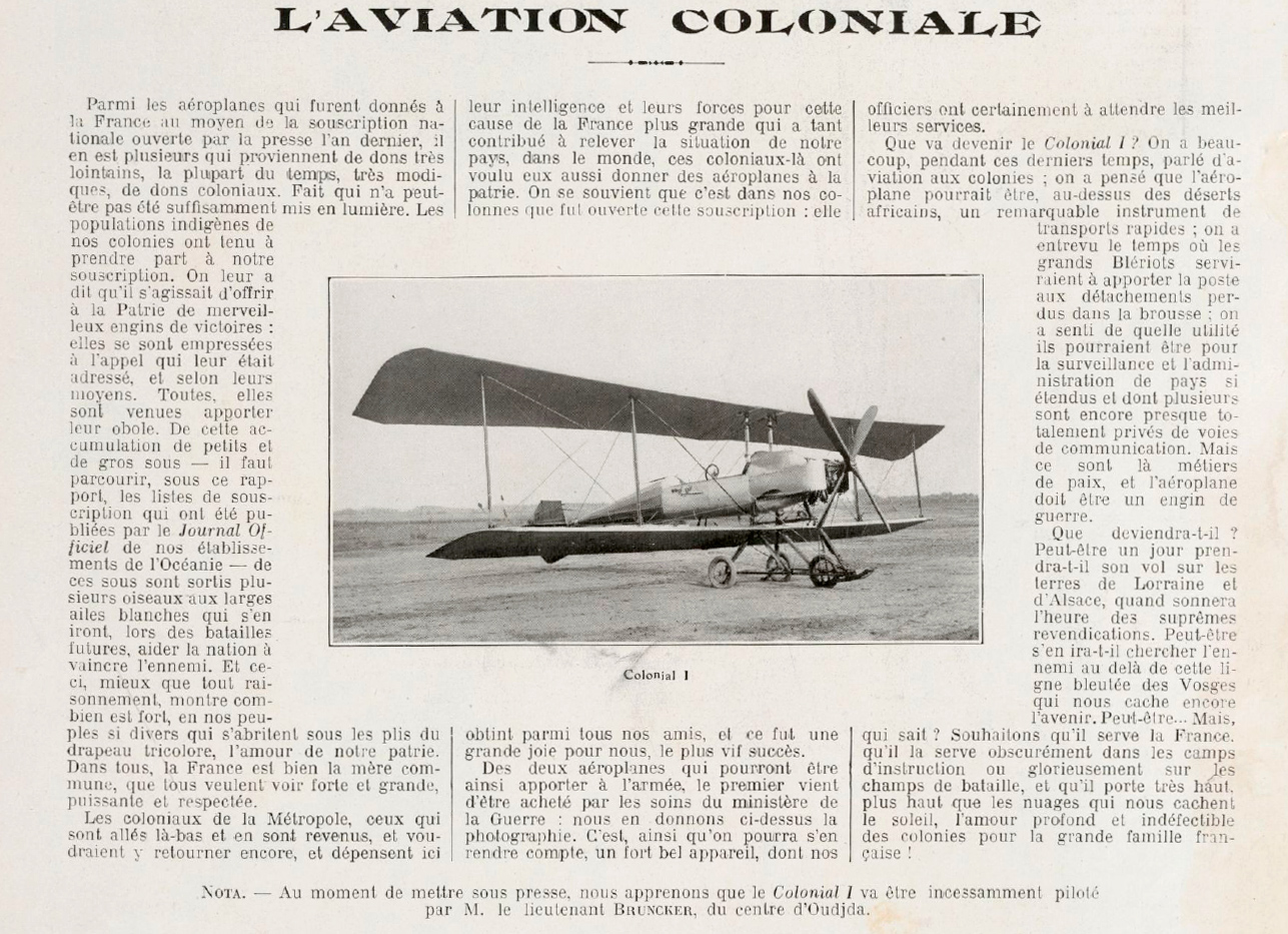 La aviación colonial