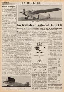 El trimotor colonial L.H. 70