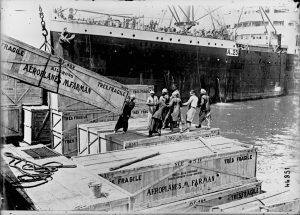 Desembarco de aviones Farman en Alejandría