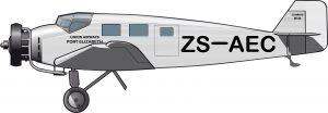Resistentes Junkers para la aviación comercial en Sudáfrica