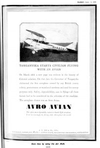 New page in the history of colonial aviation
