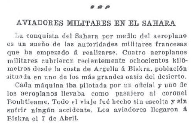 Aviadores militares en el Sahara