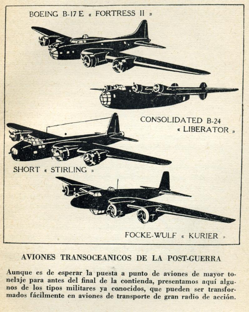Aviones transoceánicos de la post-guerra