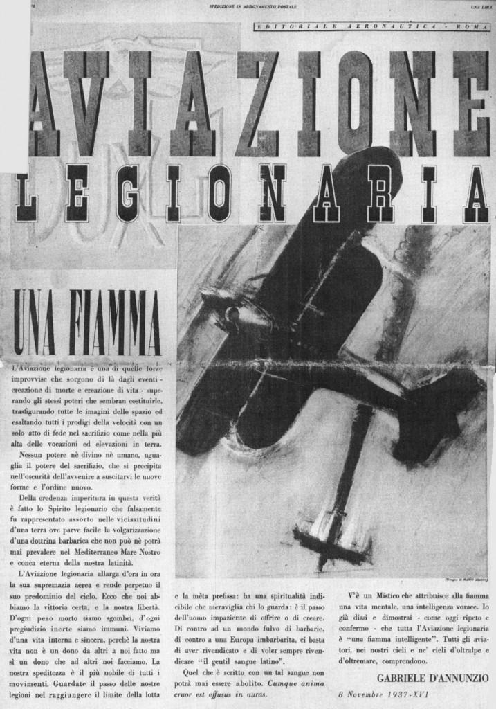 La Aviación Legionaria por Gabriele D'Annunzio