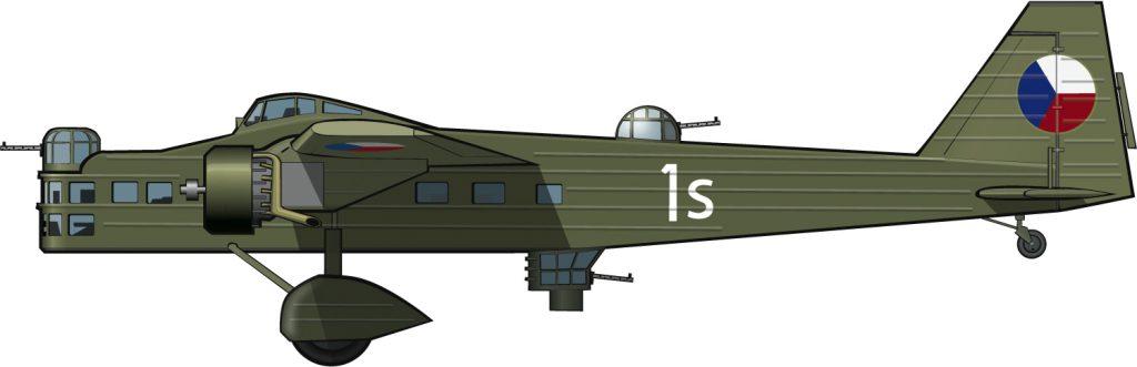Un bombardero checoslovaco para la crisis de Múnich