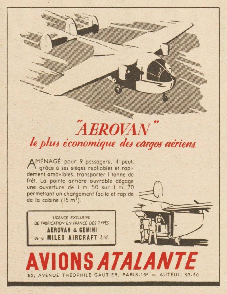 Aerovan, le plus économique des cargos aériens