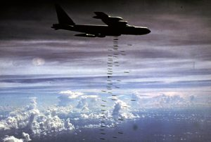 B-52 heavy bombers struck communist forces