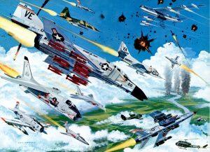 Todo el poder aéreo norteamericano sobre Vietnam
