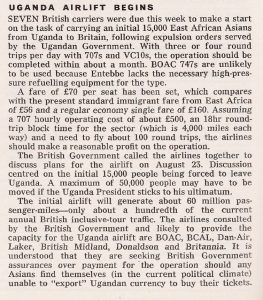 Uganda Airlift Begins