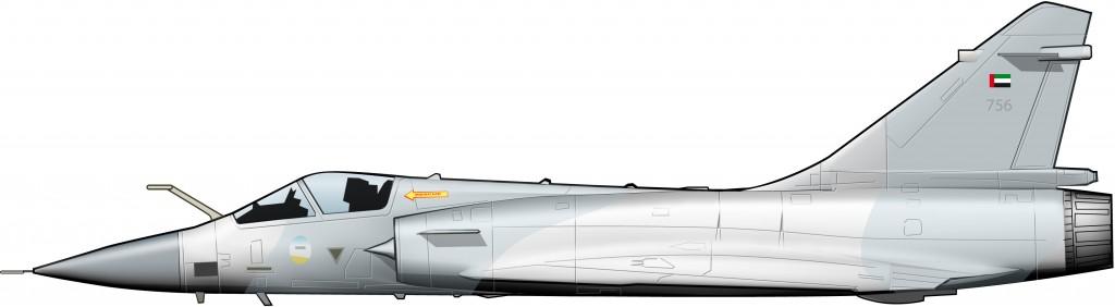 Un Mirage 2000 de la UAEAF