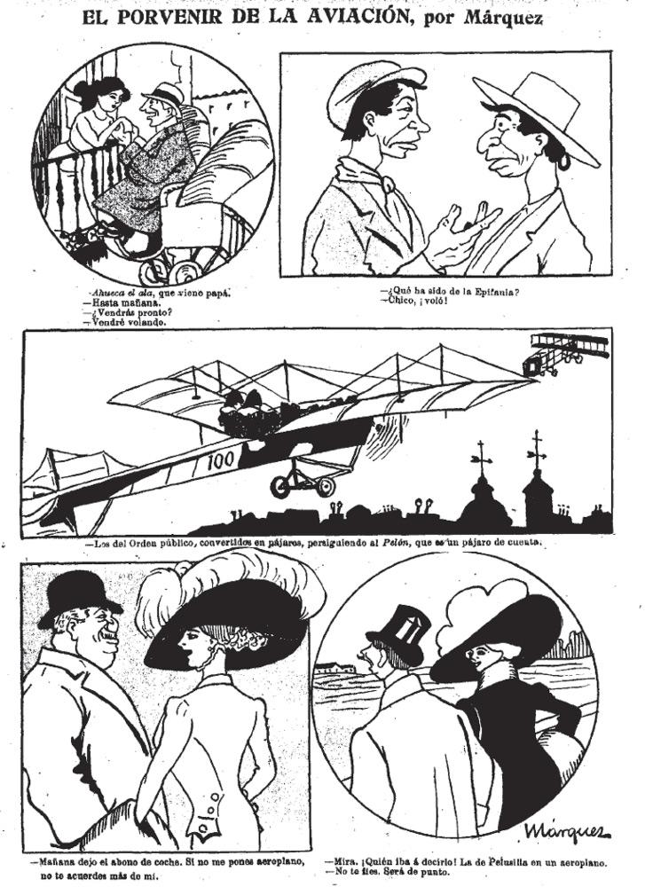 El porvenir de la aviación, por Márquez
