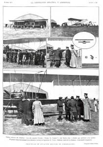 Prácticas de la aviación militar en Carabanchel