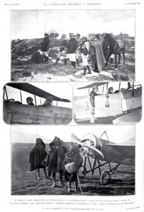 El Alto Comisario y los aviadores militares, en Tetuán