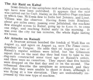 The Air Raid on Kabul – Air Attacks on Raisuli