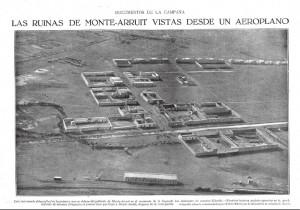 Las ruinas de Monte-Arruit vistas desde un aeroplano