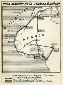 Ruta Madrid-Bata (Guinea Española)
