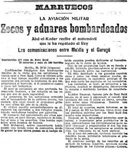 Zocos y aduares bombardeados