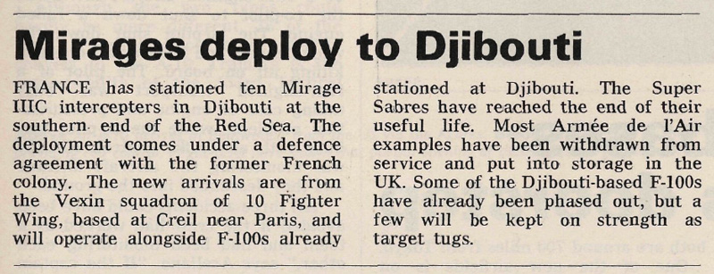 Mirages Deploy to Djibouti