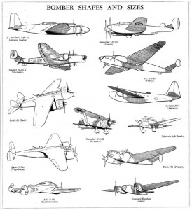 Bombers shapes and sizes