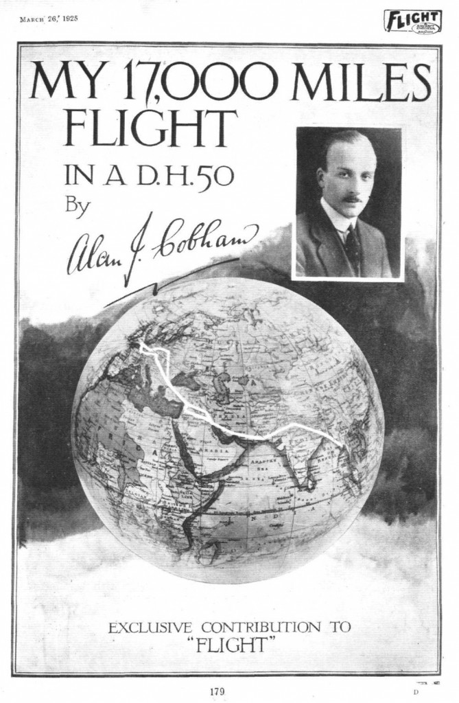 My 17.000 Miles Flight in a D.H.50, by Alan J. Cobham (10 páginas)