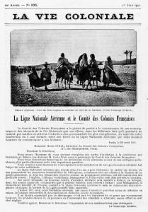La Ligue Nationale Aérienne et le Comité des Colonies Françaises