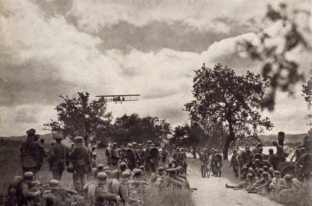 Avión de reconocimiento alemán, c. 1918