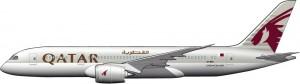 Dreamliner en Qatar