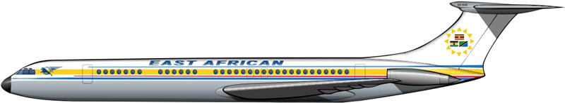 Un gran avión para la ex-África oriental británica