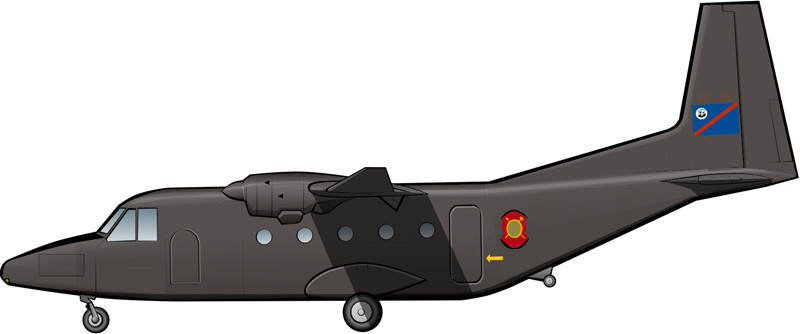 Un Aviocar en Bophuthatswana